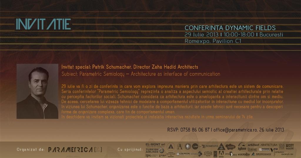 Invitatie Conferinta Dynamic Fields, 29 iulie 2013, Romexpo