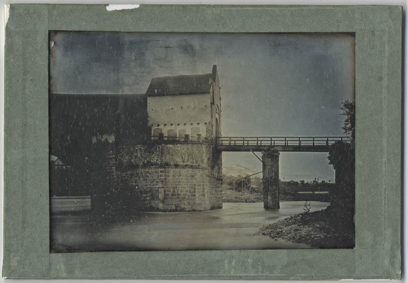 John Ruskin RF Dag 119  View of the Entry Post on the  Bridge at Rheinfelden Ruskin Foundation (Ruskin Library, Lancaster University)