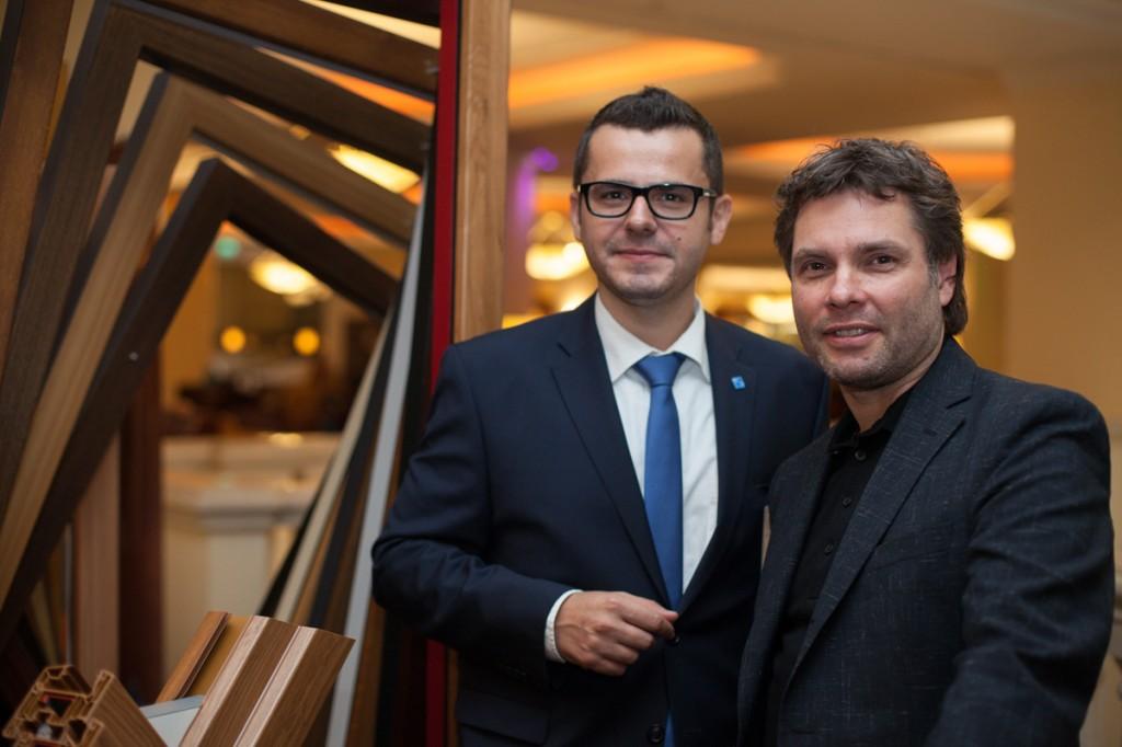 Arhitect Stephan Nicolay si Alexandru Oancea, Marketing Manager VEKA Romania