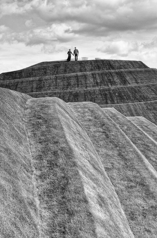 Life mounds, Charles Jencks