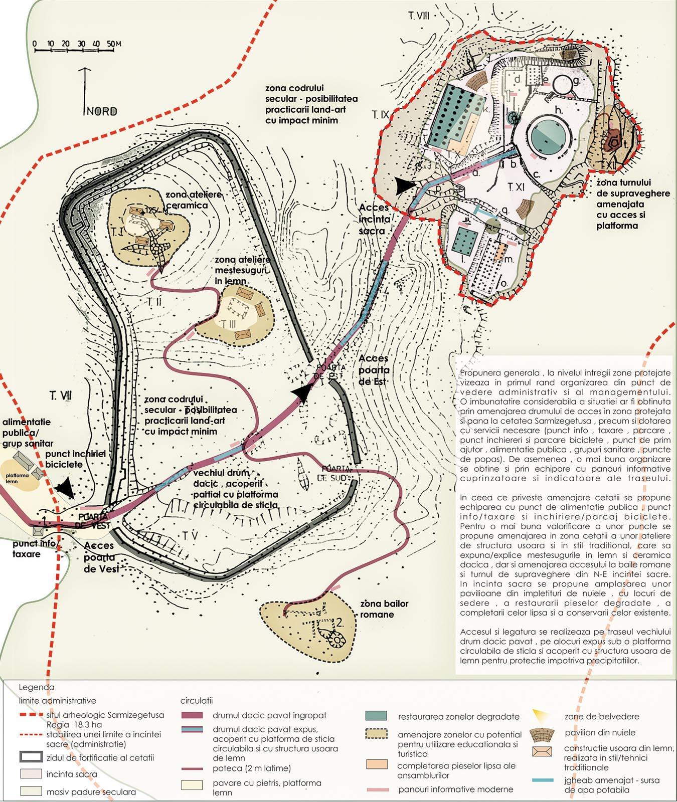Studiu zonă protejată  Sarmizegetusa Regia Propunere cetate  și incintă sacră