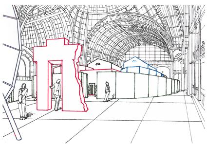 Ilya et Emilia Kabakov  Etude pour une vue d'ensemble de L'étrange cité  dessin  Monumenta 2014  © Ilya et Emilia Kabakov / ADAGP, Paris 2014
