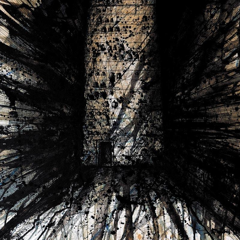 Alexandru Crișan, Columbarium, cerneluri pe hârtie, 50x50 cm, 640 g, 2012
