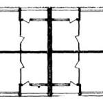 """Bloc tip """"bară îngustă"""", Ansamblul Mărășești-Șincai (adrese actuale Bd. Dimitrie Cantemir, nr. 19, 23, 25, 27, sector Plan nivel curent. Sursa: Arhitectura R.P.R. (3/1961), 42"""