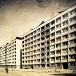 """Bloc tip """"bară îngustă"""", Ansamblul Mărășești-Șincai. Imagine de epocă. Sursa: arhiva familiei"""