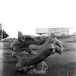 Sculpture at the Museu de Arte da Pampulha gardens, 1960 Marcos Carvalho and Gui Tarcisio Mazonni Courtesy of Laboratório de Fotodocumentação Sylvio Vasconcellos