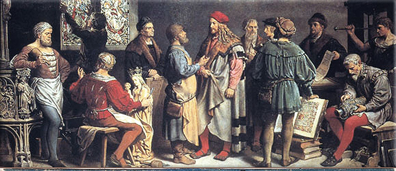"Albrecht Dürer in his community of ""appointed"""