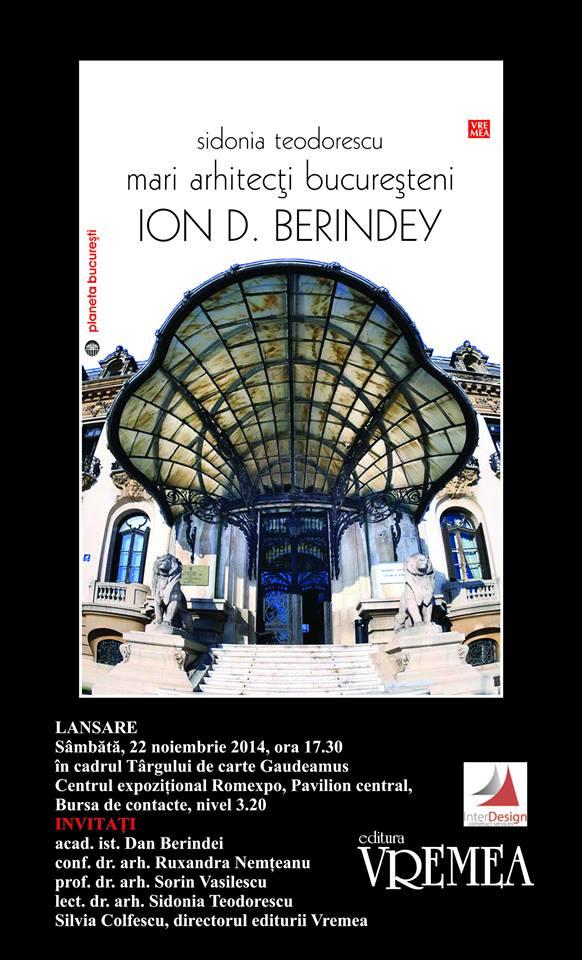 afis_Mari arhitecti bucuresteni_Ion D. Berindey