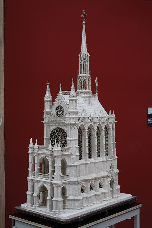 Macheta Sainte-Chapelle, J. Baronnet; 1900 Cité de l'architecture et du patrimoine/musée  des Monuments français, 2001.4.1 © CAPA/MMF/David Bordes photographe