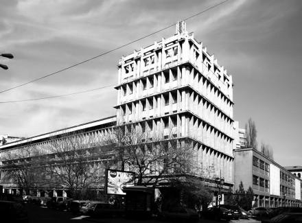 Şcoala de arhitectură, corpul din Str. Academiei, 1970, arh. Elena Voinescu, George Filipeanu. [foto. Alexandru Panaitescu]