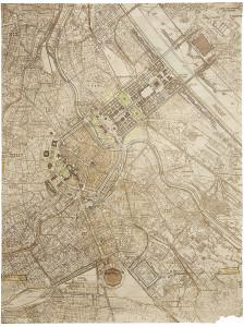 """Guide Template"""" pentru resistematizarea Vienei, 1941© Architekturzentrum Wien, Sammlung"""