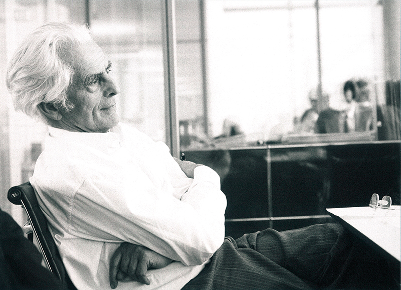 Frei Otto, 2000, Ingenhoven Photo © Ingenhoven und Partner Architekten, Düsseldorf office