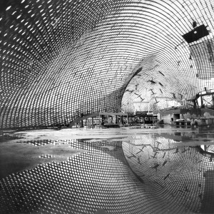 Roof for the Multihalle (multi-purpose hall) in Mannheim, 1970–1975, Mannheim, Germany, foto Frei Otto,