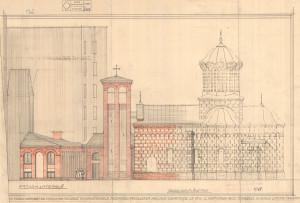 """Casa parohială și clopotnița Bisericii """"Buna Vestire"""" – Curtea Veche, proiect, arh. Horia Teodoru;"""