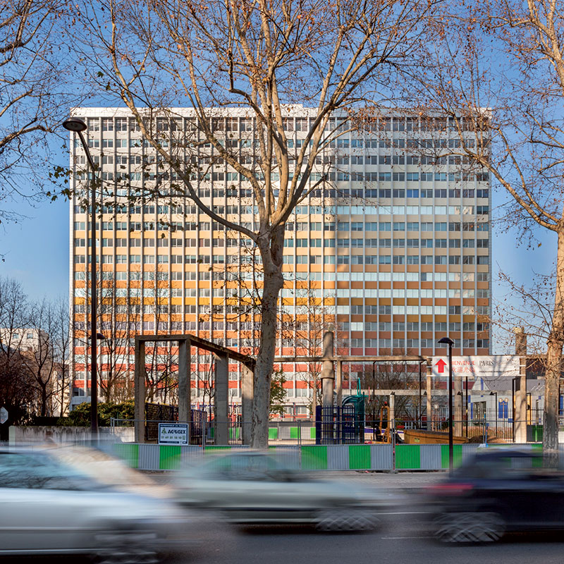 Turnul Palatino, fațada înainte de conversia funcțională, © Thierry Favatier