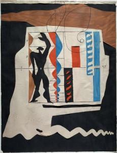 Le Corbusier, Le Modulor, 1950, Tuș și colaj de hârtii colorate în guașă și decupate, 70 x 54 cm, Colecția Centre Pompidou, Musée national d'art moderne © Centre Pompidou / Dist. RMN-GP/ Ph. Migeat, © FLC, ADAGP, Paris 2015;
