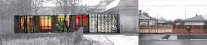 """Detaliu porți, Proiect nr. 4, """"Cum se poate deconstrui o tipologie vernaculară și reasambla componentele sale într-o locuință contemporană"""""""
