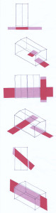 """Scheme Proiect nr. 5, """"Cum se poate îmbunătăți curtea blocului fără a înlătura garajele prefabricate""""; © Jessica Chang and Martin Hauge"""
