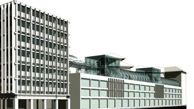 Extindere corp U.A.U.I.M./ modelare 3D – Simona-Lucia Rusu și Oana Enescu, proiect de tehnologie arhitecturală, U.A.U.I.M., 2014