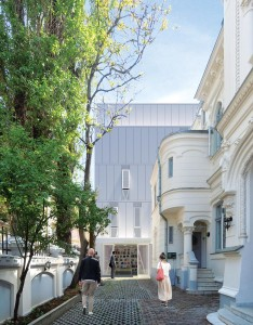 Fațada dinspre strada Jean Louis Calderon;
