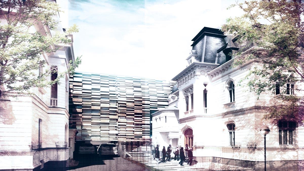 Fațada spre strada Jean Louis Calderon