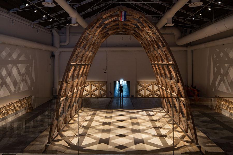 Gabinete de Arquitectura Breaking the siege (15th International Architecture Exhibition - La Biennale di Venezia, REPORTING FROM THE FRONT) Photo: Francesco Galli, Courtesy: La Biennale di Venezia