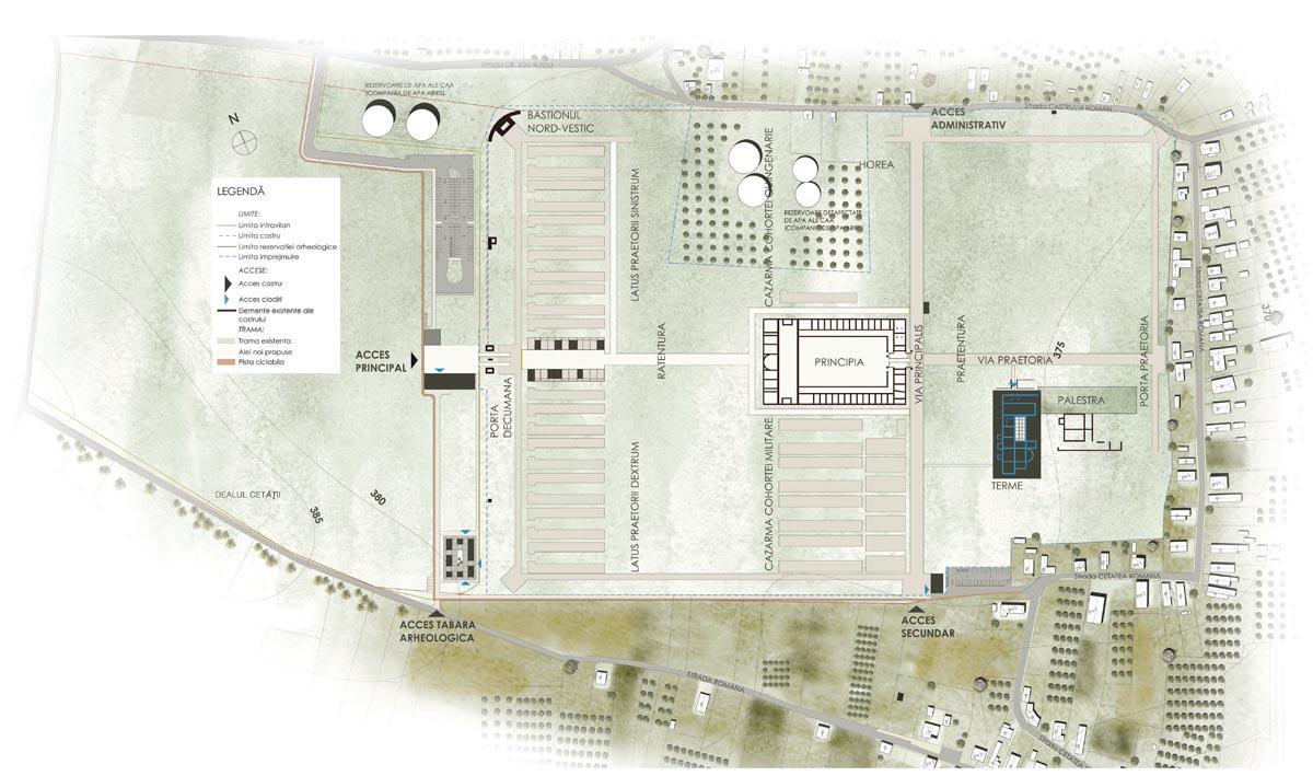 Castrul LVM, Turda, plan de situație