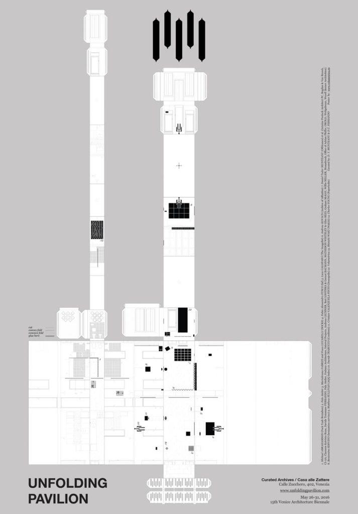 Desfășurarea spațiului expozițional. Concept de Daniel Tudor Munteanu. Desen realizat de Volumetrica (Magda Vieriu, Octavian Hrebenciuc)