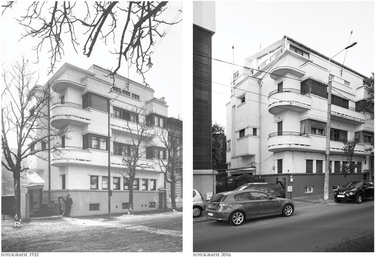 Imobil de locuințe colective, Bulevardul Ferdinand, nr. 12. Foto stânga 1932, foto dreapta 2016