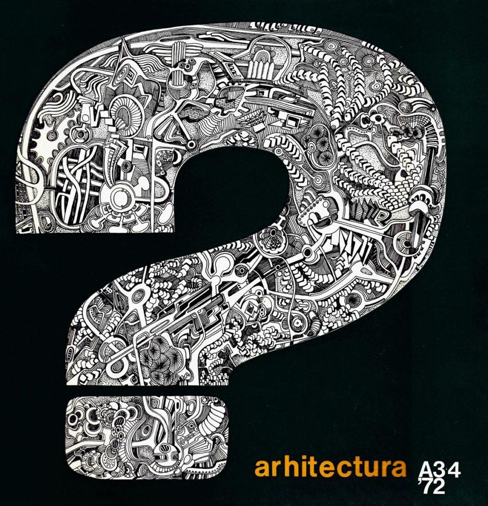 Coperta nr. 3-4/ 1972, în care a apărut pentru prima dată un articol sub genericul Înaintașii noștri; acest număr va obține, în 1975, premiul al III-lea la Concursul revistelor de arhitectură organizat în cadrul Congresului U.I.A. de la Madrid.