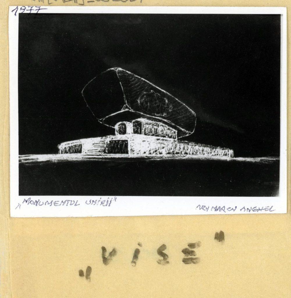"""Anghel Marcu. """"Monumentul Unirii"""". """"Vise"""". 1977"""