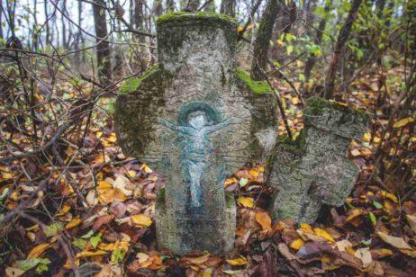 Fig. 11 Cruce de secol XIX cu motivul Pomului vieţii, cimitirul parohial Ştefăneşti,.Călăraşi.