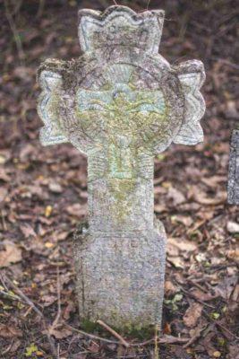 Fig. 13 Cruce de secol XIX cu motivul Pomului vieţii, cimitirul parohial Greceanca, Buzău