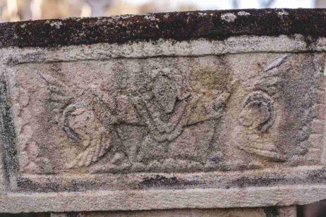 Fig. 17 Detaliu capitel Fig. 18, cruce de secol XIX, Greceanca, Buzău