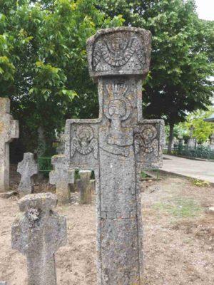 Fig. 37 Cruce de secol XIX tratată în ronde-bosse (vedere spate), cimitirul parohial Ştefăneşti, Călăraşi