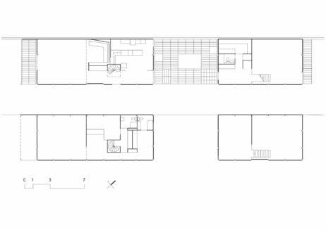 12 - Charles & Ray Eames: Locuința și atelierul, plan parter și plan etaj
