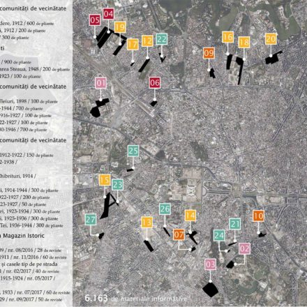 Harta parcelărilor in care au fost distribuite pliante