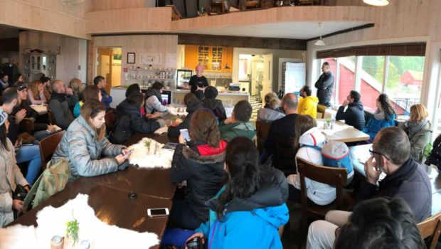 Tasting the heritage discussion in Vestbygda — in Vestbygda, Nordland, on C2/C3 VVITA Didactic Module of Intensive School — in June 2018, Norway.