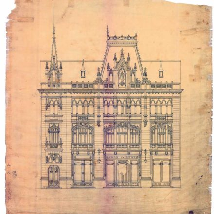 Fațada Caru' cu bere, arh. Ziegfried Kofszynski, 1899 Sursa: arhiva familiei Mircea
