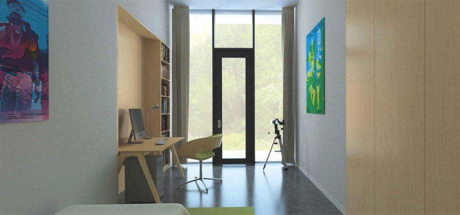 12b_Loc de lucru-O casă unifamilială cu spațiu de lucru