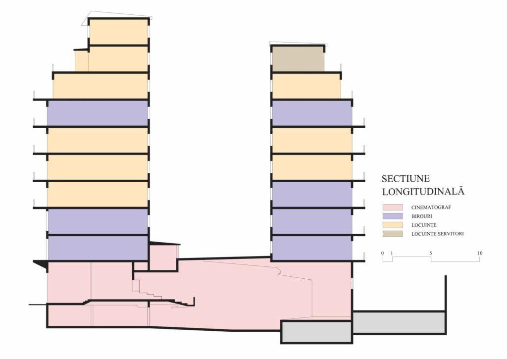 Imobilul Union (Lăzărescu) ,secțiune (cf. proiect 1945)