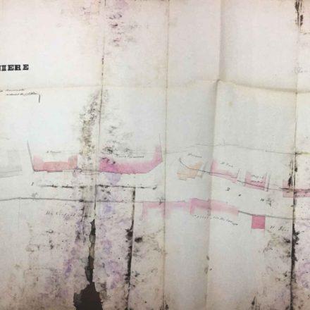 Planul de aliniere pentru Strada Doamnei  sursa: ARHIVELE NAȚIONALE, PMB ALINIERI 1868