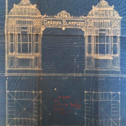 Pavilioane metalice pentru vânzarea biletelor, sursa: ARHIVELE NAȚIONALE, PMB TEHNIC 7/1915