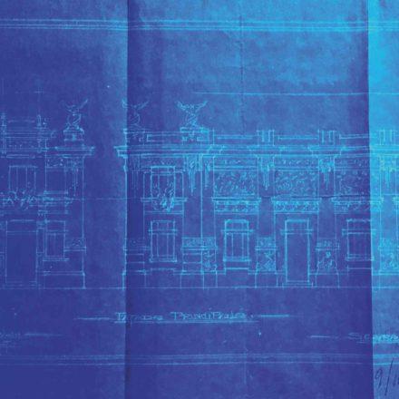 Fațadele Cinematografului Lux, sursa: ARHIVELE NAȚIONALE, PMB TEHNIC 143/1913