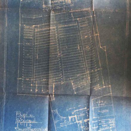 Planul cinematografului de vară, sursa: ARHIVELE NAȚIONALE, PMB TEHNIC 9/1922