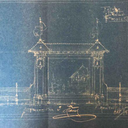 Secțiunea transversală a cinematografului de vară, sursa: ARHIVELE NAȚIONALE, PMB TEHNIC 9/1922