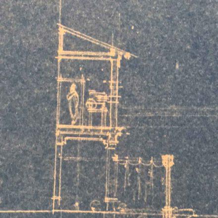 Camera de proiecție, sursa: ARHIVELE NAȚIONALE, PMB TEHNIC 9/1922