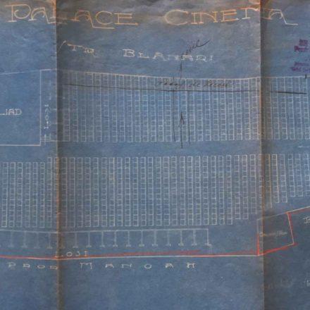 Planul Cinematografului Pathé, sursa: ARHIVELE NAȚIONALE, PMB TEHNIC 140/1921