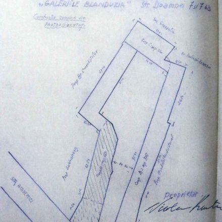 Galeriile Blanduziei, sursa: ARHIVELE NAȚIONALE, Banca Românească, Direcția Tehnică, D. 88