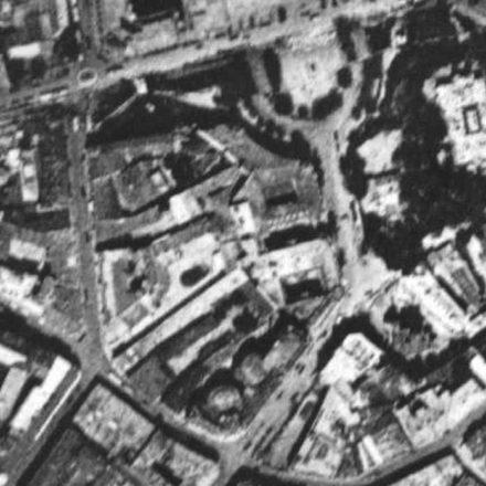 Galeriile Blanduziei. Vedere aeriană, București, 1927, sursa: U.A.U.I.M., arhiva D.I.T.A.C.P.